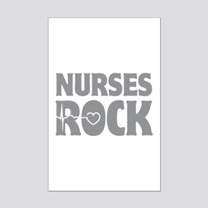 Nurses Rock Mini Poster Print